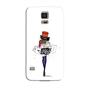 Cover it up Shopping Girl Samsung Galaxy S5 Hard Case - White