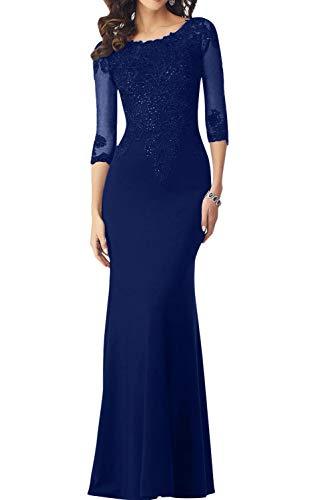 trapecio Real Topkleider para mujer Azul Vestido 40qgav