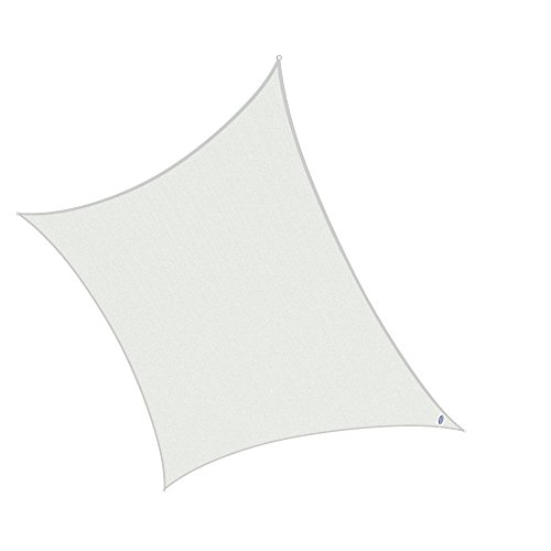 Cool Area Square Oversized 16 Feet 5 Inches Sun Shade Sail, UV Block Patio Sail Perfect for Outdoor Patio Garden Swimming pools in Color White by Cool Area