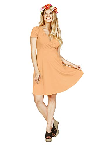 Lunarable Women's Cross Wrap A Line Summer Dress V, used for sale  Delivered anywhere in USA