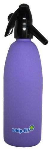 Whip-It 1-Liter Soda Siphon, Rubber Coated, Purple by Whip-it!