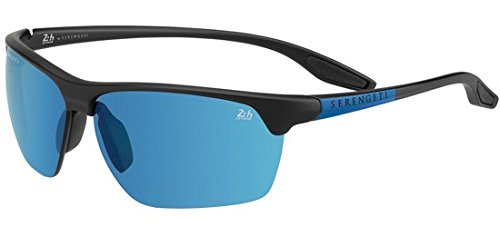 Serengeti Dark Large Medium Black Gafas Unisex Linosa Sol dark blue black de Adulto Satin Gun satin rBw8rRPq