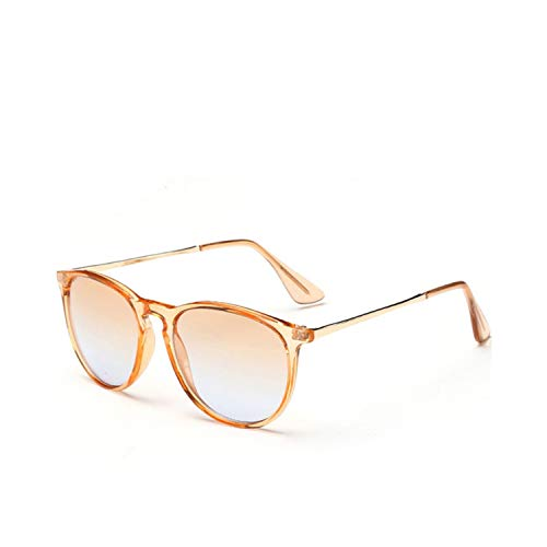 Zonnebril Dames Retro Fashion Sun Glasses Colored Shades Round Sunglasses For Women Tinted Lens Circle Ladies Pink Eyeglasses C08
