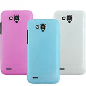 Snow Jade Style Plastic Protective Case For ZTE U985 --- Color:Blue