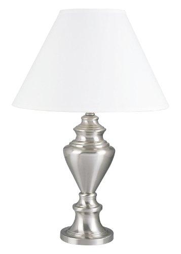ORE International 6236SN Metal Table Lamp, Satin Nickel
