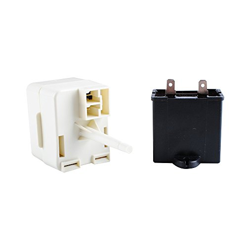 Podoy W10613606 Refrigerator Compressor Start Relay with Capacitor 67005560 Compatible Whirlpool Maytag KitchenAid Kenmore Replaces W10416065 PS8746522 67003186