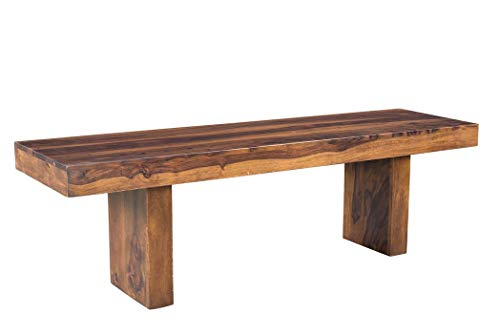 Timbergirl AA1458 Sheesham Entryway Solid Wood Bench, -