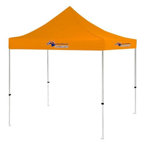 Georgia Highlands 9 ft x 9 ft Orange Tent 'Official Logo' by CollegeFanGear