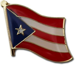 Puerto Rico Flag Metal Suit Jacket Lapel Pin/Broche de Solapa de Puerto Rico Travel Pins for backpacks, hats, ties, and lapels (Puerto Rican broach, 0.75