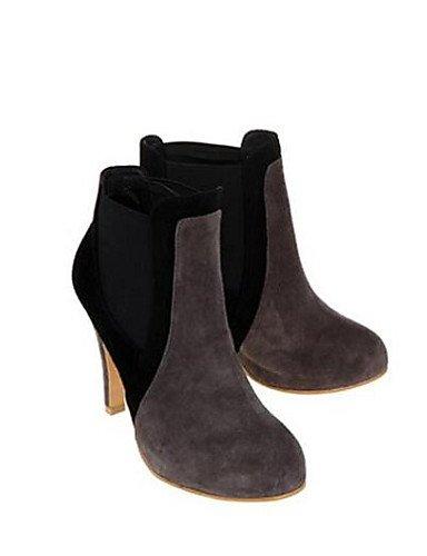 Zapatos Gris us8 7 Punta Mujer Sintético Cn37 Gray Botines De Redonda Uk4 5 Gray 5 Eu37 Exterior Eu39 Botas us6 Xzz Cuero Cn39 5 Uk6 Stiletto Amarillo Tacón Casual dgWCna