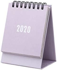Tischkalender Kalendarien 2020 Creative-Solid Color-Serie Mini-Tischkalender DIY Portable Desktop-Kalender Liste Tägliche Terminplaner zu tun (Color : Purple)