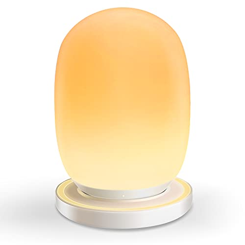 Night Light for Kids with Stable Charging Pad, Baby Night Lights with Timer and Touch Control, Warm Light + RGB Color Changing, up to 150H