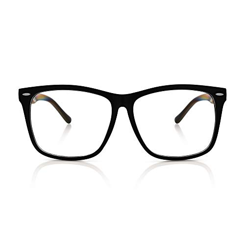 Asian Eye Glasses Costume (5zero1 Fake Glasses Big Frame Nerd Party Men Women Fashion Classic Retro Eyeglasses,)