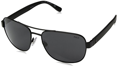Polo Ralph Lauren Men's Metal Man Square Sunglasses, Matte Black, 60 - Sunglasses Ralph Lauren Polo