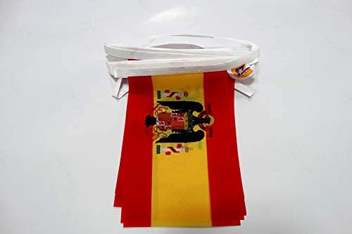 AZ FLAG Guirnalda 6 Metros 20 Banderas de ESPAÑA DE Franco 1945-1977 21x15cm - Bandera FRANQUISTA ESPAÑOLA 15 x 21 cm - BANDERINES: Amazon.es: Jardín