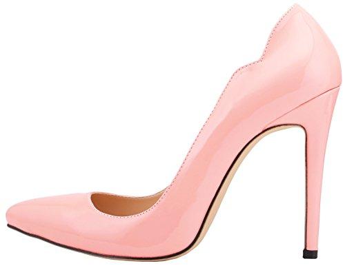 Wedding Pumps Candy Pink Stiletto Slip Color HooH On Women Pumps qIa57w0