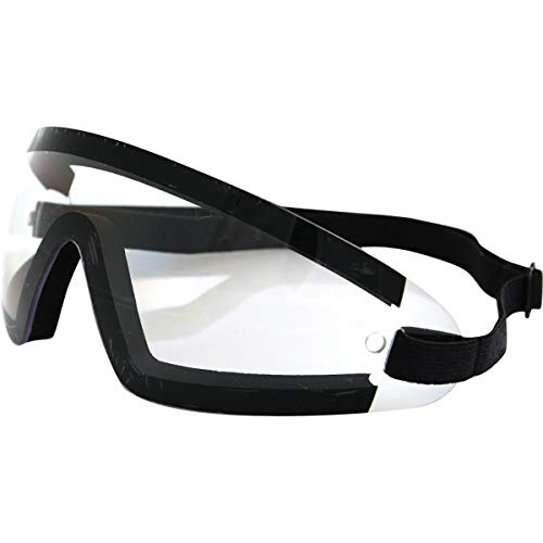 Bobster Wrap Around Goggles (BLACK/CLEAR LENS)