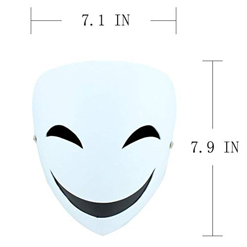 YUFENG Resin Masks Halloween Collector Props The Film Theme Black Bullets Hiruko Smiley Mask (Hiruko smile mask) -