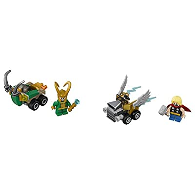 LEGO Marvel Super Heroes Mighty Micros: Thor vs. Loki 76091 Building Kit (79 Piece): Toys & Games