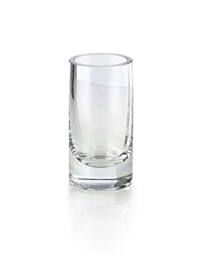 - Serene Spaces Living Clear Glass Bud Vases, Set of 4, Ideal for Tablescape at Weddings, Events, Measures 4