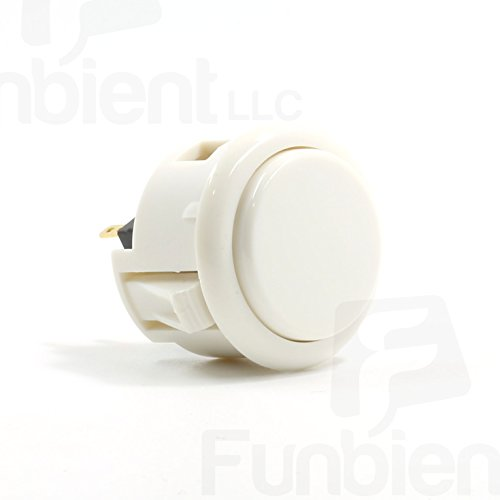 Sanwa OBSF-30 White OEM Arcade Push Button (Mad Catz SF4 Tournament Joystick Compatible)