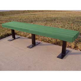 Trailside 6' Flat Bench, Recycled Plastic, Green
