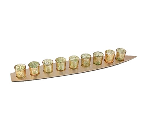 THE YELLOW DOOR Boat Votive Holder Candle Holder Stand Set of 9