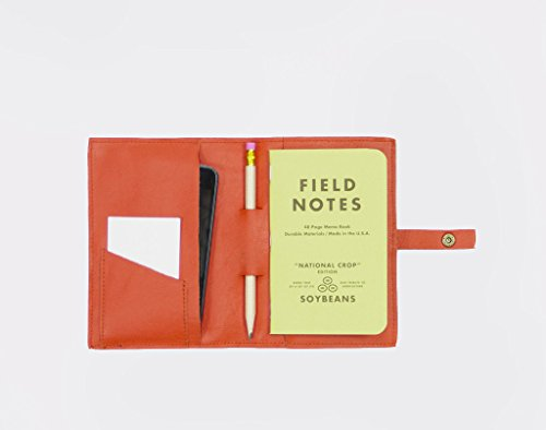 Leatherback Writer: 100% Real Italian Leather Notebook Cover - holds Smartphone, Wallet & Notebook (With Pen Holder) by This Is Ground