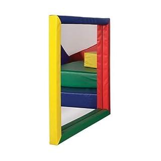 ECR4Kids SoftZone Padded Toddler Mirror, Flat, Assorted
