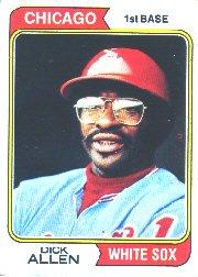 1974 Topps Baseball Card #70 Dick Allen ()