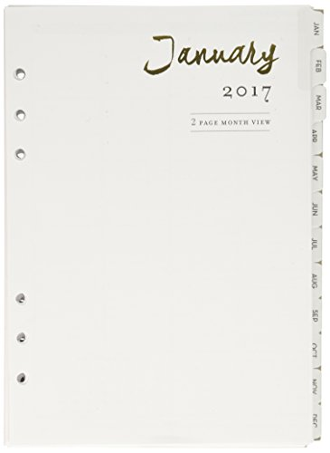 Webster's Pages A5 2017 12-Month Week and Month Calendar (P1016)