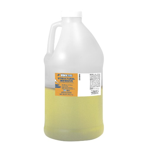 Vibra-TITE 233 No-Mix Rough or Porous Surfaces Structural Adhesive, 1 Liter Bottle, Pale Yellow by Vibra-TITE