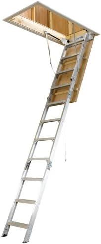 Werner ah2510 25-Inch by (8-Feet – Escalera de ático de aluminio de 10 pies universal con 375-pound Capacidad de carga: Amazon.es: Bricolaje y herramientas