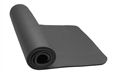 Thick Exercise Yoga Floor Mat Nbr 24 X 71 Inches Great for Camping Cardio Workouts Pilates Gymnastics (Black)