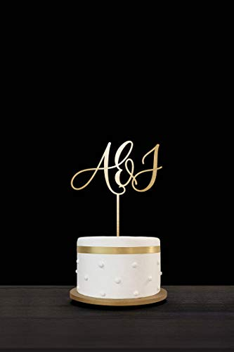 - Customized Wedding Cake Topper Initials Monogram, Engagement Anniversary Party Supplies Favors Decoration