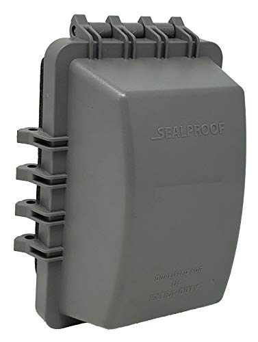 Sealproof 1-Gang Weatherproof In Use Outlet Cover | One Gang Outdoor Plug and Receptacle Protector, Lockable, UL Extra Duty Compliant, 18 Configurations