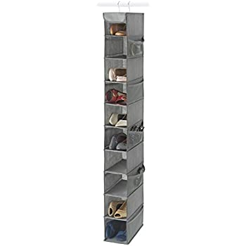 Merveilleux Zober 10 Shelf Hanging Shoe Organizer, Shoe Holder For Closet   10 Mesh  Pockets