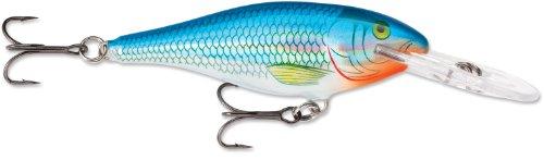 Rapala Shad Rap 8 Fishing Lure, Holographic Blue Shiner, 3-1/8-Inch