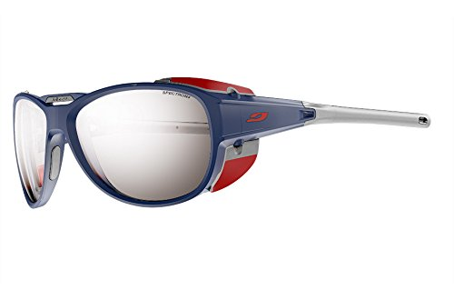 Julbo Explorer 2.0 Mountaineering Glacier Sunglasses - Spectron 4 - Matte Blue/Red