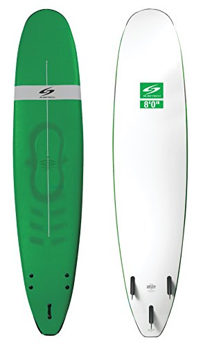 Surftech Learn2Surf Blacktip Surfboard   Super Durable Soft Surf Board   Includes Fins 5'6 6'0 7'0 8'0 9'0 10'0 (Green, 8'0