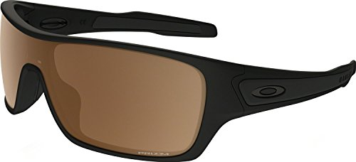 Oakley Men's Turbine Rotor Polarized Iridium Rectangular Sunglasses, Matte Black w/Prizm Tungsten Polarized, 132 - Oakley Polarized Bronze
