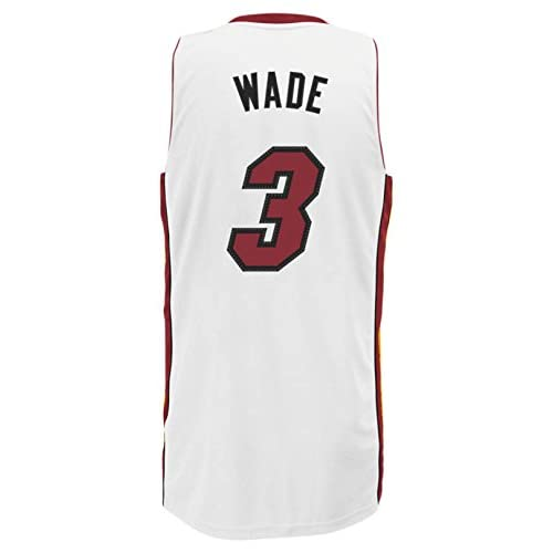 competitive price ca604 d36a8 adidas Dwayne Wade Miami Heat #3 White Youth Swingman Home ...