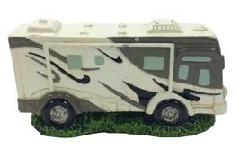 Class A Motorhome RV Camper Miniature Collectible Figurine, 3""