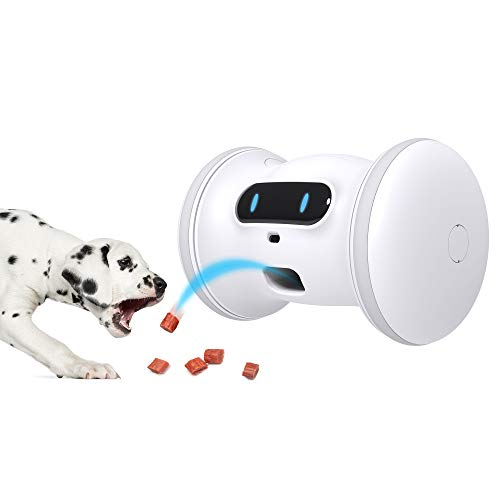 VARRAM Pet Fitness Robot Full Package: Treat Tossing, Schedule Automatic Drives, Manual Play via App, Activity Tracking, Interactive Moving Toy for Cats & Dogs