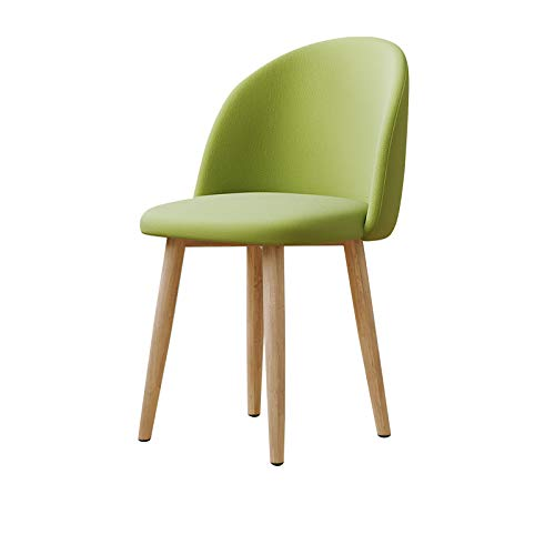 GREEN 444777cm Chair - Solid Wood Simple Home Closed Back Adult Chair Restaurant Fashion Chair (color   Green, Size   44  47  77cm)