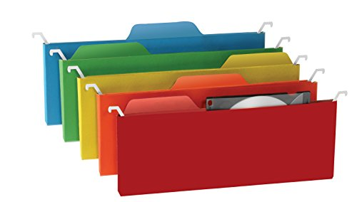 Find-It Tab View Mini Hanging File Folders, Assorted Colors, 6 Pack (FT07184)