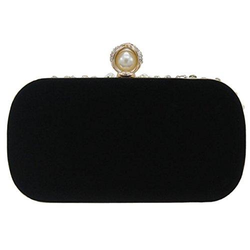 Poignée De Black Sac Mode Sac Diamant Main à Féminine De Luxe 7gzgwHEqx