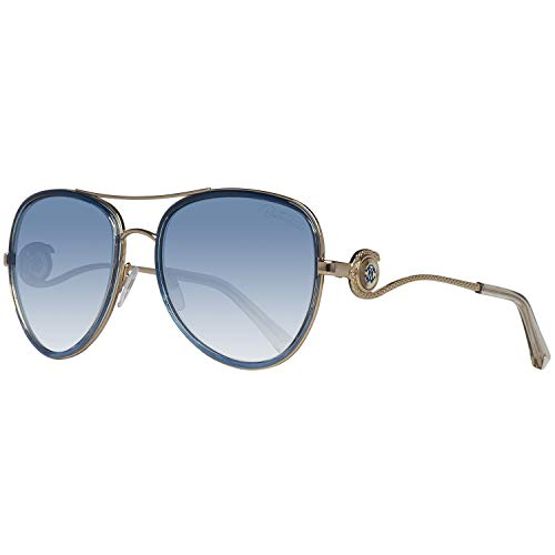 (Roberto Cavalli - WEZEN RC 1013, Aviator, metal, women, GOLD BLUE/BLUE SHADED(92X), 58/18/135)