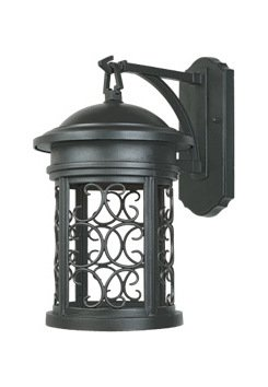 Oil Rubbed Bronze 1 Light 9in. Wall Lantern from The Dark Sky Barrington Collection