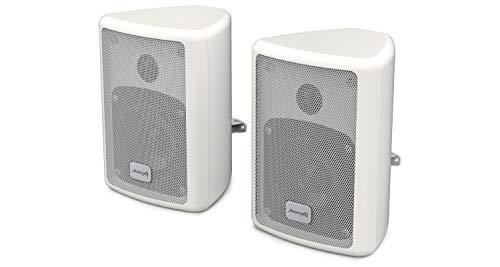 Audibax, Picolo PR-41 kastluidspreker, hifi-luidspreker en geluidsdemping, vermogen 75 W, wandhouder, paar, wit…
